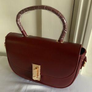 Melie Bianco Burgundy Top Handle Pocketbook